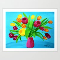 Tulips for Easter Art Print