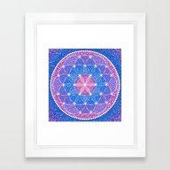 Starry Flower Of Life Framed Art Print