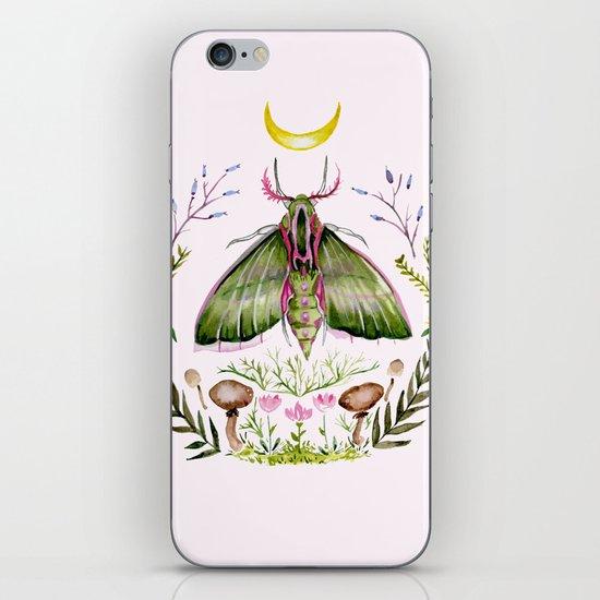 Pink Moth iPhone & iPod Skin
