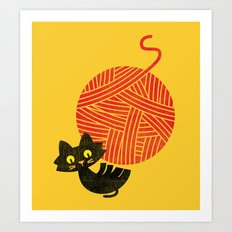Fitz - Happiness (cat An… Art Print