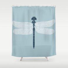 dragonfly v3 Shower Curtain