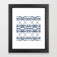 Blue Iron II Framed Art Print