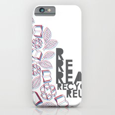 read, recycle, reuse iPhone 6s Slim Case