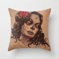 Muerte Throw Pillow