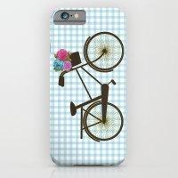 bike iPhone & iPod Cases featuring Bike by Juliana Zimmermann