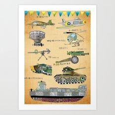 The 54th Anniversary of 823 Artillery Bombardment Art Print