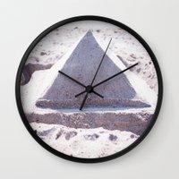 Sandy Triangle  Wall Clock