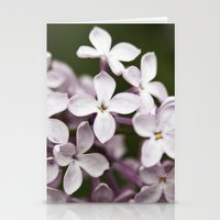 Lilac blossoms Stationery Cards