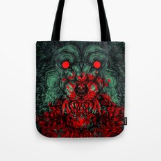 A wolf in the shape of a girl Tote Bag