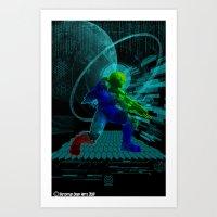 Art Print featuring Halo Splash Art by Timothy DaRoma