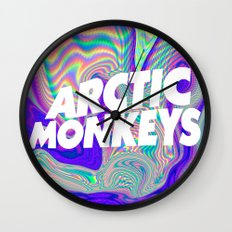 Psychedelic Arctic Monke… Wall Clock