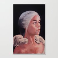 Mother Of Falcor oil on Canvas Canvas Print