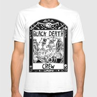 Black Death Crew Mens Fitted Tee White SMALL