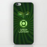 Green Lantern Art Deco iPhone & iPod Skin