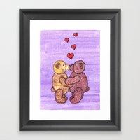 Bears In Love Framed Art Print