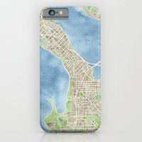 City Map Madison Wisconsin watercolor  iPhone 6 Slim Case