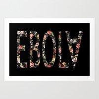 Floral Ebola Art Print