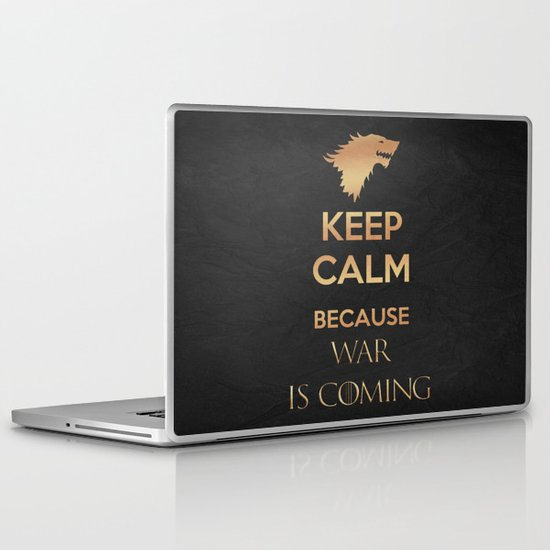 Keep Calm - Game Poster 04 Laptop & iPad Skin