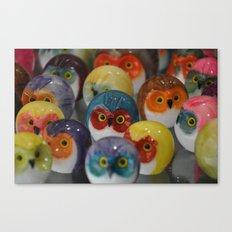 Alabaster Owls Canvas Print