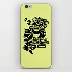 Happy Squiggles - 1-Bit Oddity - Black Version iPhone & iPod Skin