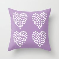 Hearts Heart X2 Radiant … Throw Pillow