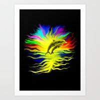 Dolphins In The Sunshine Art Print