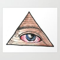 Hazy Eye Art Print