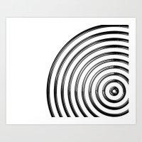 Mercurial Rings Art Print