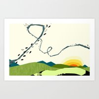 Wind Blown Art Print