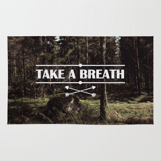 Take a breath Area & Throw Rug