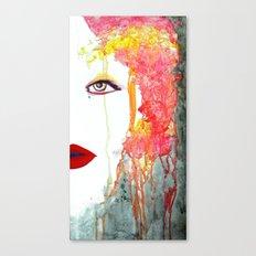 Angry Girl Canvas Print