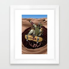 Boba Fett Shreds Framed Art Print