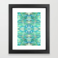 Water and Light Reflections Framed Art Print