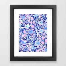 Nonchalant Blue Framed Art Print
