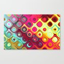 Beautiful HOME - Megafunky rainbow patterns Canvas Print