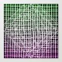 Space Plaid Canvas Print