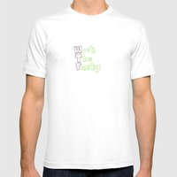 The real meaning of wtf Mens Fitted Tee White SMALL