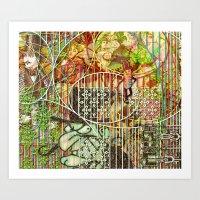 Crimson Petal's Lying Decay (2) Art Print