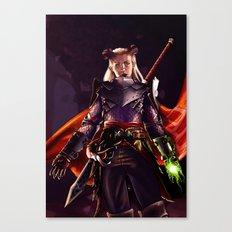 Dragon Age Inquisition - Eva the Qunari warrior Canvas Print