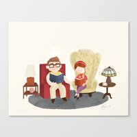 Carl and Ellie (from Pixar's 'Up') Canvas Print