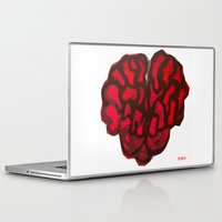brain Laptop & iPad Skins featuring Brain by Myles Hunt