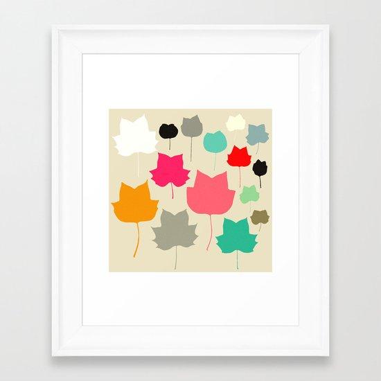 Mapleleaf 4 Framed Art Print
