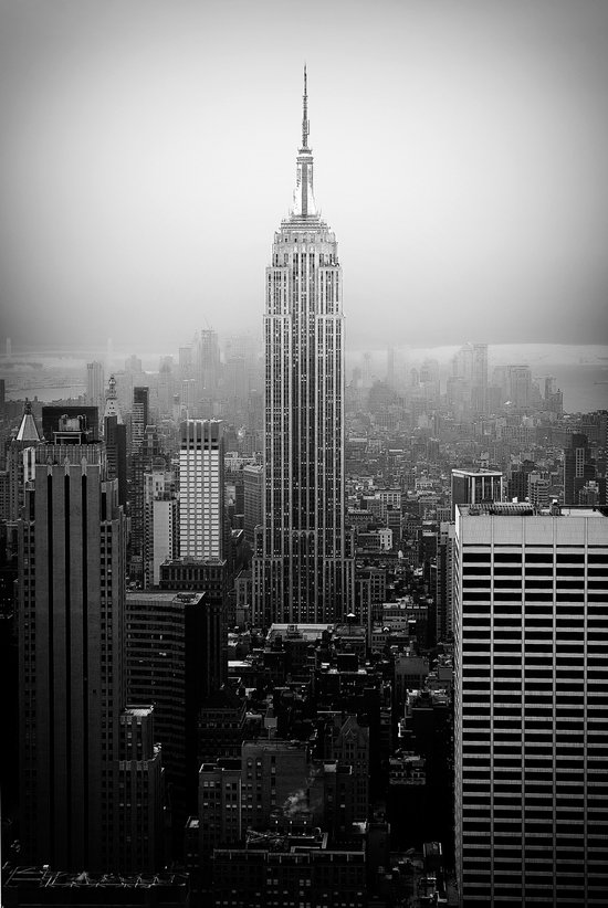 The Empire State Building In New York City Art Print By