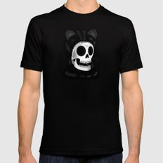 I came here to take you to the purrrrrgatory Mens Fitted Tee Black SMALL