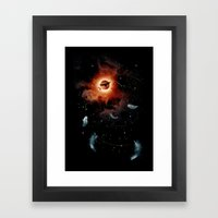 to the horizon Framed Art Print