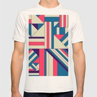 Geo1. Mens Fitted Tee Natural SMALL