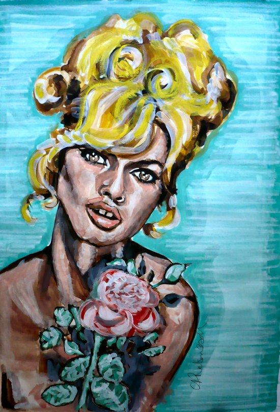 Brigitte Bardot Art Print