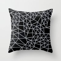 Segment Grey and Black Throw Pillow