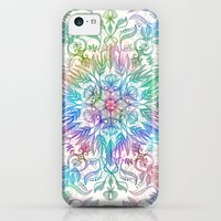 iPhone 5c Cases featuring Nature Mandala in Rainbow Hues by micklyn