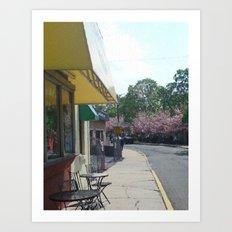 Walk By Cafe Art Print